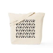 Guitars Skulls Pattern Tote Bag