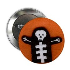 Stitched Skeleton Button