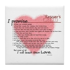 Rescuers Creed Tile Coaster