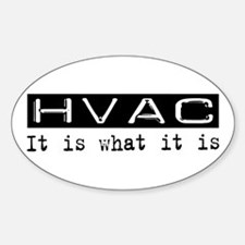 HVAC Is Oval Decal