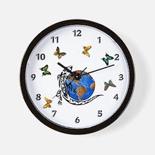 Gecko Planet Wall Clock