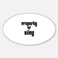 Property of Kiley Oval Decal