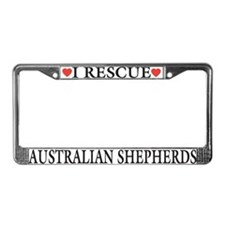 Australian Shepherd Rescue License Plate Frame
