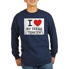 I love MY IRISH TERRIER T