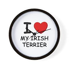 I love MY IRISH TERRIER Wall Clock