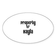 Property of Kayla Oval Decal