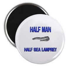 Half Man Half Sea Lamprey Magnet