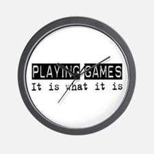 Playing Games Is Wall Clock