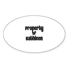 Property of Kathleen Oval Decal