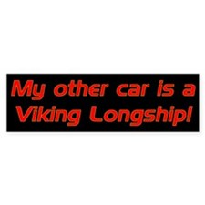 My other car is a Viking Long Bumper Bumper Sticker