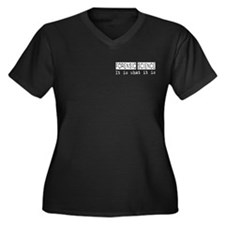Forensic Science Is Women's Plus Size V-Neck Dark