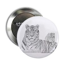 "Tiger With Cub 2.25"" Button (100 pack)"