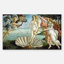 Botticelli's Birth of Venus Rectangle Sticker 10