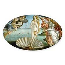 Botticelli's Birth of Venus Oval Decal