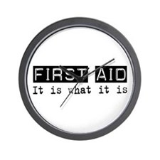 First Aid Is Wall Clock
