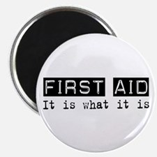 "First Aid Is 2.25"" Magnet (10 pack)"