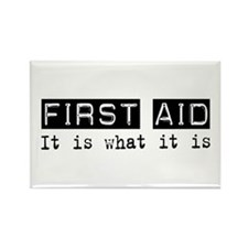 First Aid Is Rectangle Magnet