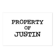 Property of Justin Postcards (Package of 8)