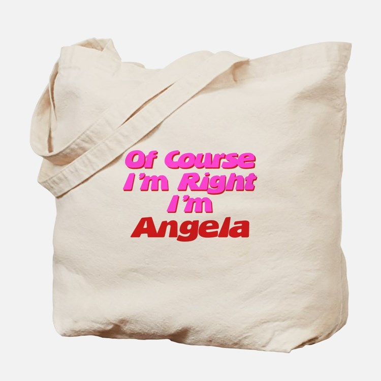 Angela Is Right Tote Bag