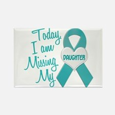 Missing My Daughter 1 TEAL Rectangle Magnet