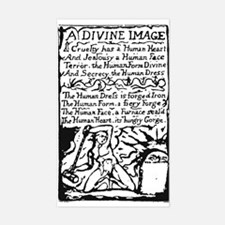 Blake's A Divine Image Rectangle Decal