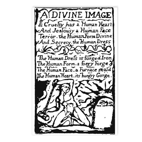 Blake's A Divine Image Postcards (Package of 8)