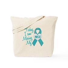 Missing My Niece 1 TEAL Tote Bag