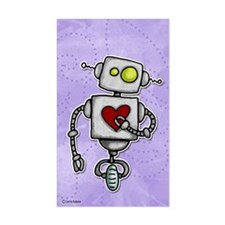 love bot Rectangle Decal