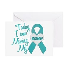 Missing My Mommy 1 TEAL Greeting Card