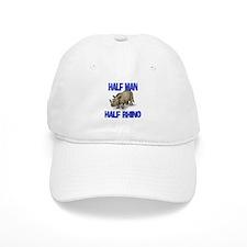 Half Man Half Rhino Baseball Cap