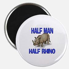 Half Man Half Rhino Magnet
