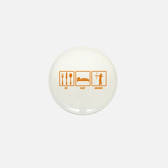 Eat Sleep Archery Mini Button