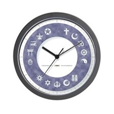 InterFaith/MultiFaith Ring Wall Clock