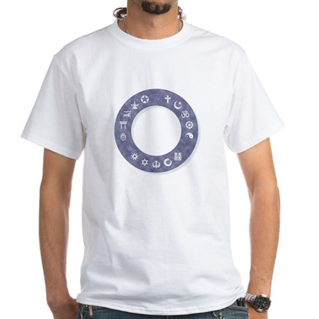 InterFaith/MultiFaith Ring White T-Shirt