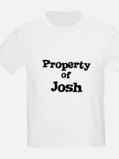 Property of Josh Kids T-Shirt