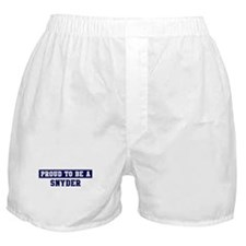 Proud to be Snyder Boxer Shorts