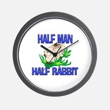 Half Man Half Rabbit Wall Clock