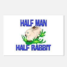 Half Man Half Rabbit Postcards (Package of 8)