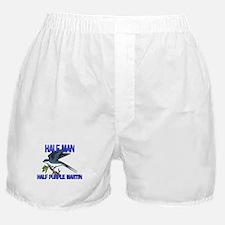 Half Man Half Purple Martin Boxer Shorts