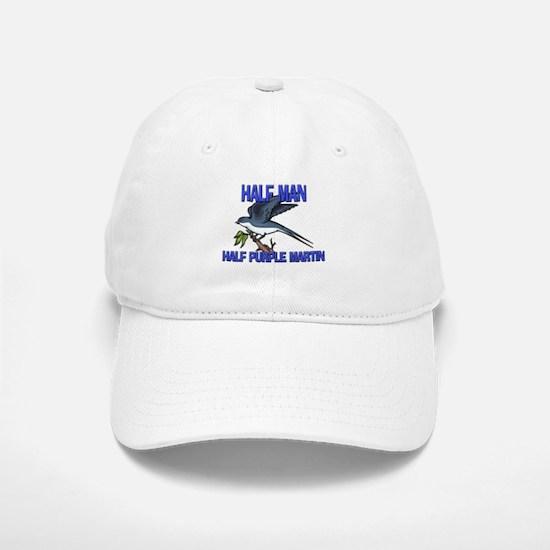 Half Man Half Purple Martin Baseball Baseball Cap