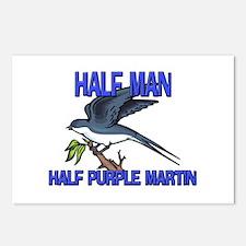 Half Man Half Purple Martin Postcards (Package of