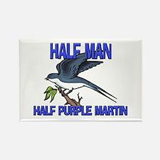 Half Man Half Purple Martin Rectangle Magnet