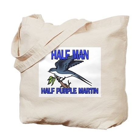 Half Man Half Purple Martin Tote Bag