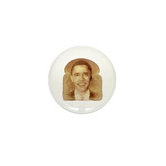 Obama on Toast Mini Button (100 pack)