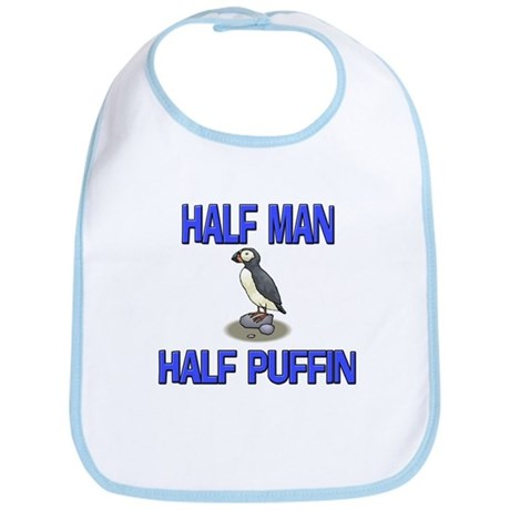 Half Man Half Puffin Bib