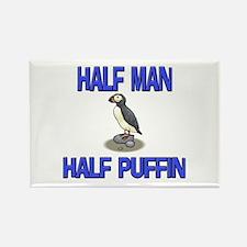 Half Man Half Puffin Rectangle Magnet
