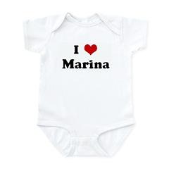 I Love Marina Infant Bodysuit