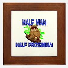 Half Man Half Prosimian Framed Tile