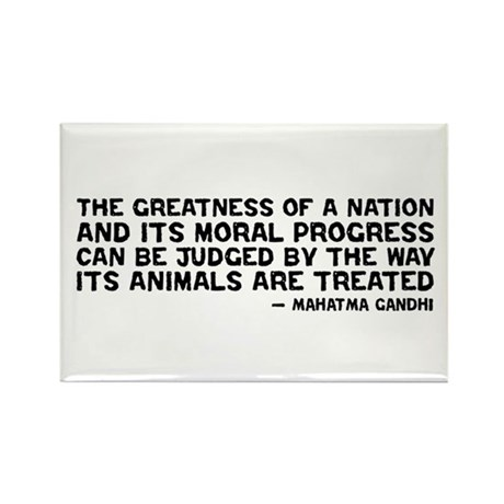 Quote - Greatness - Gandhi Rectangle Magnet