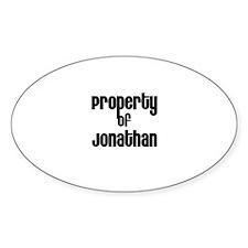 Property of Jonathan Oval Decal